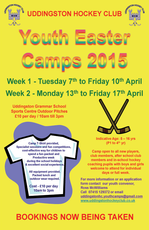 Easter Youth Camps - Two Weeks - Bookings Now Being Taken